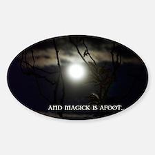 Full Moon Card Sticker (Oval)