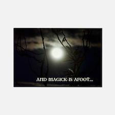 Full Moon Card Rectangle Magnet