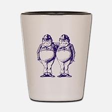 Tweedle Dee and Tweedle Dum Purple Shot Glass