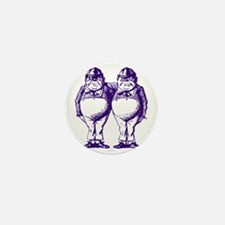 Tweedle Dee and Tweedle Dum Purple Mini Button