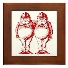 Tweedle Dee and Tweedle Dum Red Framed Tile