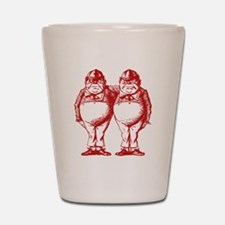 Tweedle Dee and Tweedle Dum Red Shot Glass