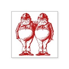 "Tweedle Dee and Tweedle Dum Square Sticker 3"" x 3"""