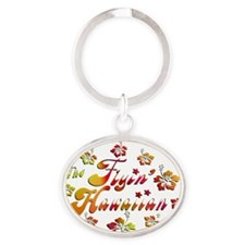 2010 FH Hibiscus Colors Oval Keychain