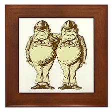 Tweedle Dee and Tweedle Dum Sepia Framed Tile