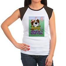 BrPapEasterPostcard Women's Cap Sleeve T-Shirt