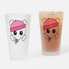 Baby Girl Skully Drinking Glass