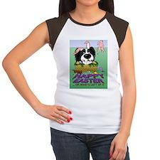 BlPapEasterPostcard Women's Cap Sleeve T-Shirt