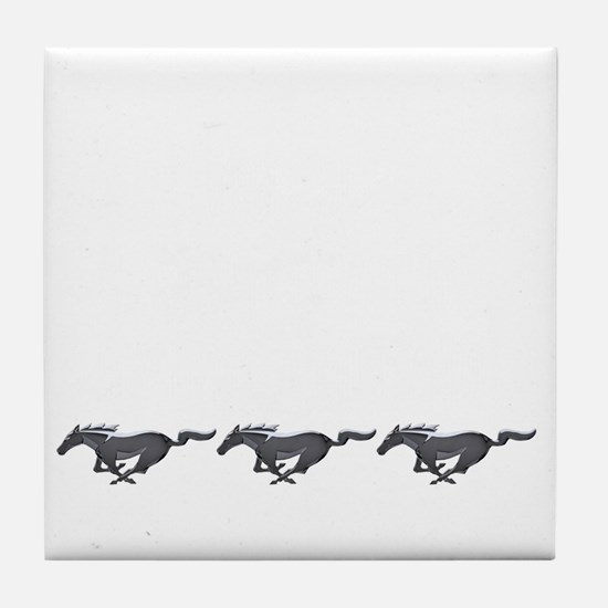 Mens mustang Tile Coaster