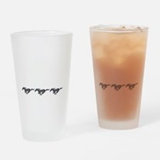Mens mustang Drinking Glass