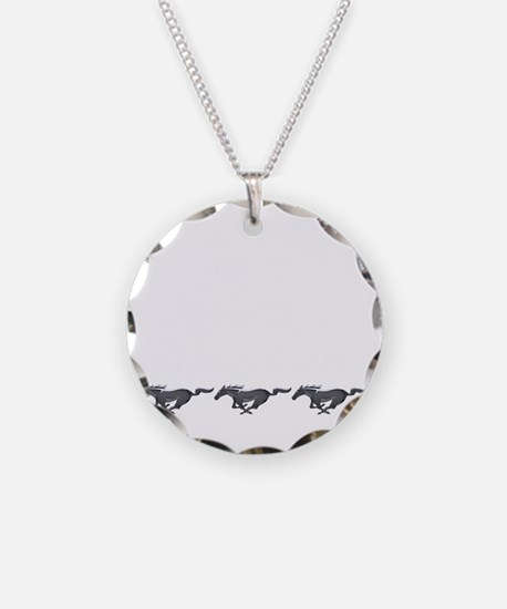 Mens mustang Necklace