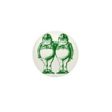 Tweedle Dee and Tweedle Dum Green Mini Button