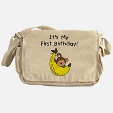 monkeyboyfirstbday Messenger Bag