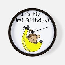 monkeyboyfirstbday Wall Clock