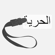 Freedom in Black Luggage Tag
