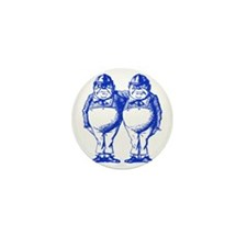 Tweedle Dee and Tweedle Dum Blue Mini Button