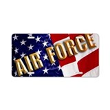 American flag with air force symbol License Plates