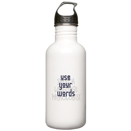 Use Your Words 2 Water Bottle