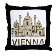 vienna_bk Throw Pillow