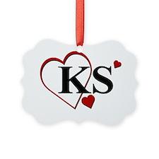 KS Kansas Heart. Ornament