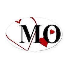 MO Missouri Herat Oval Car Magnet