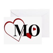 MO Missouri Herat Greeting Card