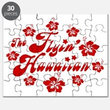 2010 FH Hibiscus Red Wht Strk Puzzle