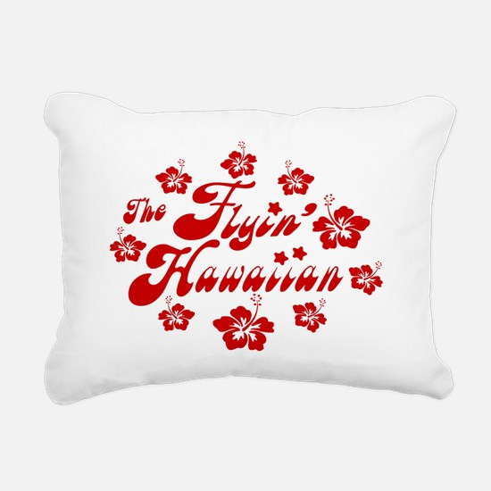 2010 FH Hibiscus Red Wht Rectangular Canvas Pillow