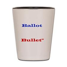 Ballot Bullet white Shot Glass