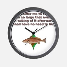 reddrumprayer Wall Clock