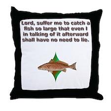reddrumprayer Throw Pillow