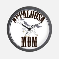 Appaloosa Mom Blue Roan Appy Wall Clock