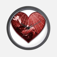 Tesla VDay Shirt Wall Clock