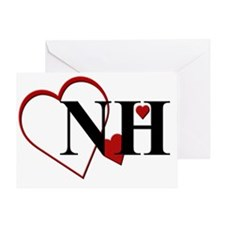 NH New Hampshire Heart Greeting Card