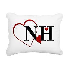 NH New Hampshire Heart Rectangular Canvas Pillow