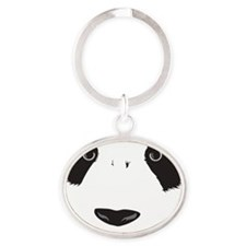 Panda Big Oval Keychain