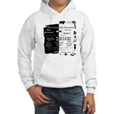 best lines lost text and picture Hooded Sweatshirt