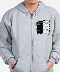 best lines lost text and pictures for w Zip Hoodie