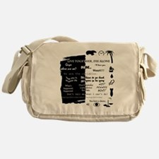 best lines lost text and pictures fo Messenger Bag