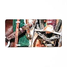 Green Blanket mug Aluminum License Plate