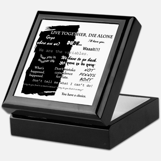 best lines lost text only Keepsake Box