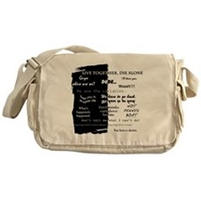 best lines lost text only Messenger Bag