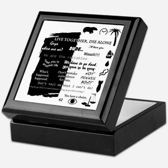 best lines lost text and pictures cop Keepsake Box