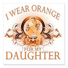 """I Wear Orange for my Dau Square Car Magnet 3"""" x 3"""""""
