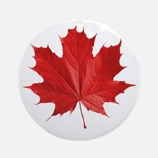 red maple leaf t-shirt Round Ornament
