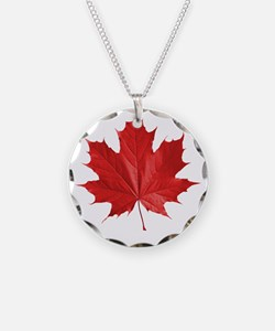 red maple leaf t-shirt Necklace