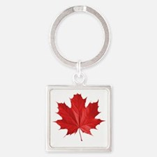 red maple leaf t-shirt Square Keychain