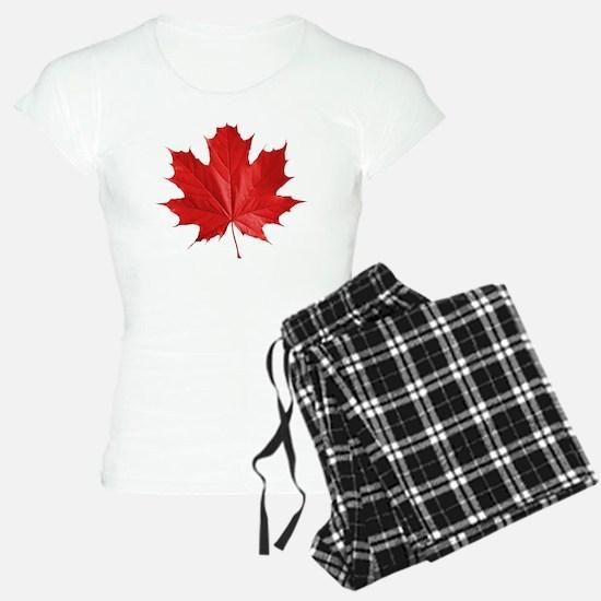 red maple leaf t-shirt pajamas