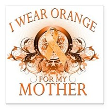 "I Wear Orange for my Mot Square Car Magnet 3"" x 3"""