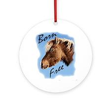 born free pony Round Ornament